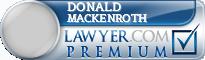 Donald Irwin Mackenroth  Lawyer Badge