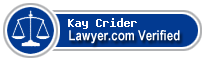 Kay M. Crider  Lawyer Badge