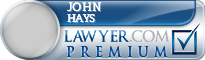 John Phillip Hays  Lawyer Badge