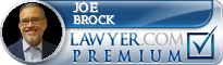 Joe Brad Brock  Lawyer Badge