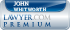 John Frederick Whitworth  Lawyer Badge