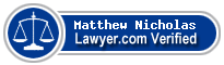 Matthew Edward Nicholas  Lawyer Badge