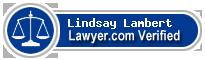 Lindsay L. Lambert  Lawyer Badge