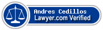 Andres Cedillos  Lawyer Badge