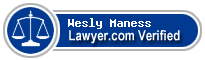 Wesly Carl Maness  Lawyer Badge