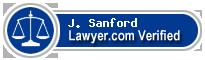 J. Lester Sanford  Lawyer Badge