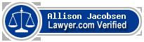 Allison Jacobsen  Lawyer Badge