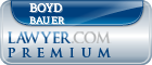 Boyd William Bauer  Lawyer Badge