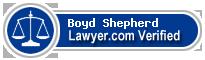 Boyd Wilson Shepherd  Lawyer Badge