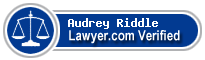 Audrey Melissia k Riddle  Lawyer Badge