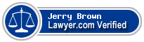 Jerry Mcgregor Brown  Lawyer Badge