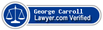 George E. Carroll  Lawyer Badge