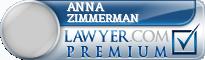 Anna M. Zimmerman  Lawyer Badge