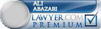 Ali Abazari  Lawyer Badge