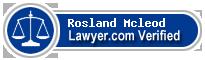 Rosland Fisher Mcleod  Lawyer Badge