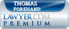 Thomas Rex Forehand  Lawyer Badge