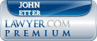 John Karl Etter  Lawyer Badge