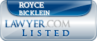 Royce Bicklein Lawyer Badge