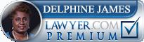 Delphine M. James  Lawyer Badge