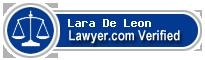 Lara Cardin De Leon  Lawyer Badge