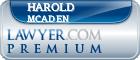 Harold Wayne Mcaden  Lawyer Badge