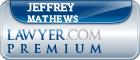 Jeffrey Grant Mathews  Lawyer Badge