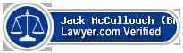 Jack Bradley McCullouch (Brad)  Lawyer Badge