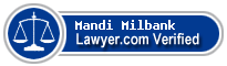 Mandi Britt Milbank  Lawyer Badge