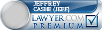 Jeffrey Charles Cashe (Jeff)  Lawyer Badge