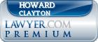 Howard Clair Clayton  Lawyer Badge