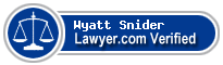 Wyatt David Snider  Lawyer Badge