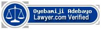 Oyebamiji Bola Adebayo  Lawyer Badge