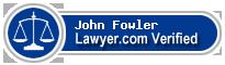 John Marston Fowler  Lawyer Badge