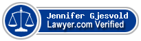 Jennifer K. Gjesvold  Lawyer Badge