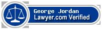 George Walter Jordan  Lawyer Badge