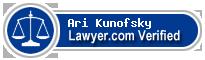 Ari David Kunofsky  Lawyer Badge