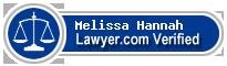 Melissa Leanne Hannah  Lawyer Badge