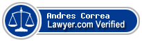 Andres Correa  Lawyer Badge