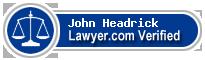 John Wesley Headrick  Lawyer Badge