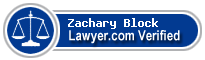 Zachary James Block  Lawyer Badge