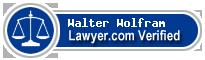 Walter Paul Wolfram  Lawyer Badge