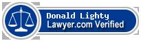 Donald Francis Lighty  Lawyer Badge