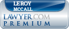 Leroy Mccall  Lawyer Badge