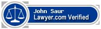 John Anthony Saur  Lawyer Badge