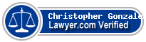 Christopher George Gonzalez  Lawyer Badge