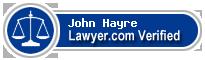 John M. Hayre  Lawyer Badge