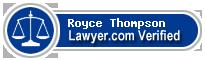 Royce B. Thompson  Lawyer Badge
