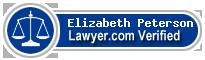 Elizabeth Halbert Peterson  Lawyer Badge