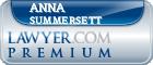 Anna Rebekah Summersett  Lawyer Badge