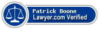 Patrick Boone  Lawyer Badge